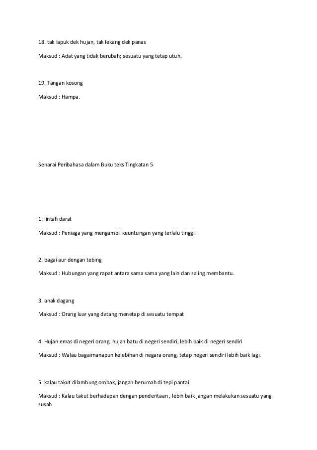 Peribahasa Tingkatan 4 Dan 5 Buku Teks Cikimm Com