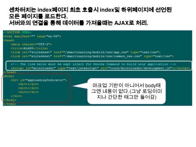 Sencha touch 2.11) Layout 퍼포먼스 향상- 네이티브APP에 근접한 레이아웃UI(화면슬라이딩, 부드러운 움직임 등 개선)- 아래는 실제 디바이스로 비교한결과(orientation change event...