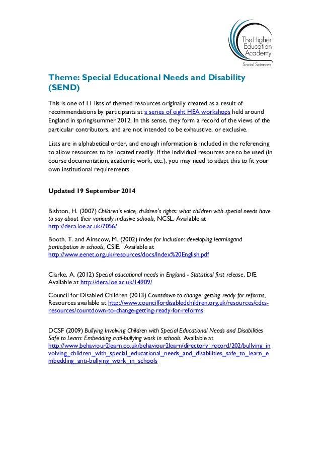 Special Education Pdf