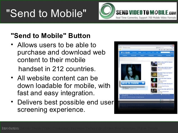 """""""Send Video to Mobile"""" Feature Slide 3"""