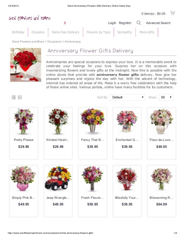 10 3 2014 Send Anniversary Flowers Gifts Delivery Online Same Day Login Register