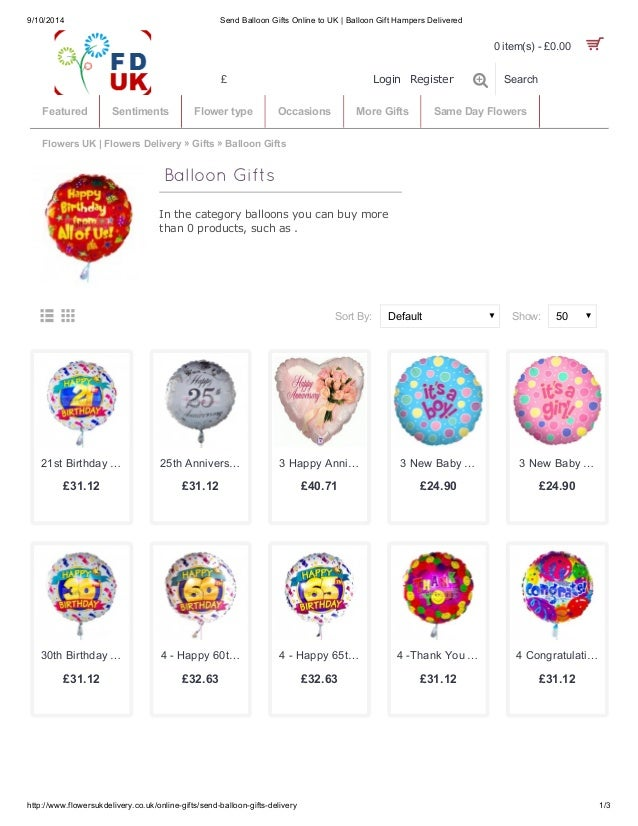 Send Colorful Balloons Gifts Online
