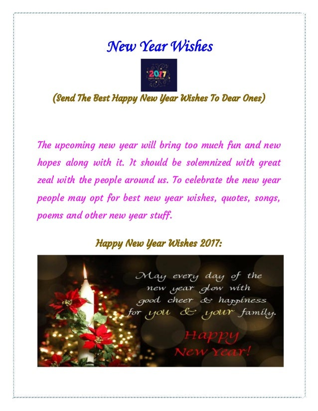 Send Best New Year Wishes To Your Loved Ones