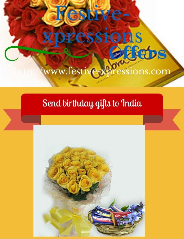 Send Birthday Gifts To USA Festive Xpressions Offers
