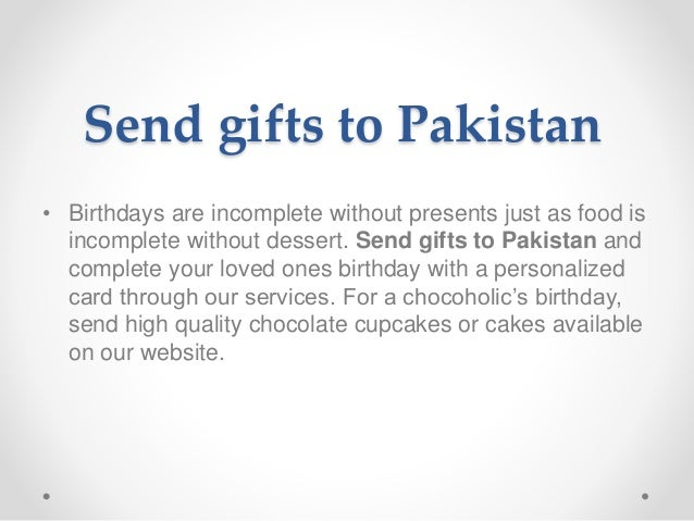 Send Gifts To Pakistan From Australia