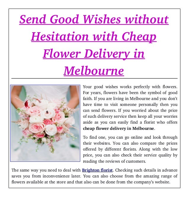 Send good wishes without hesitation with cheap flower delivery in mel