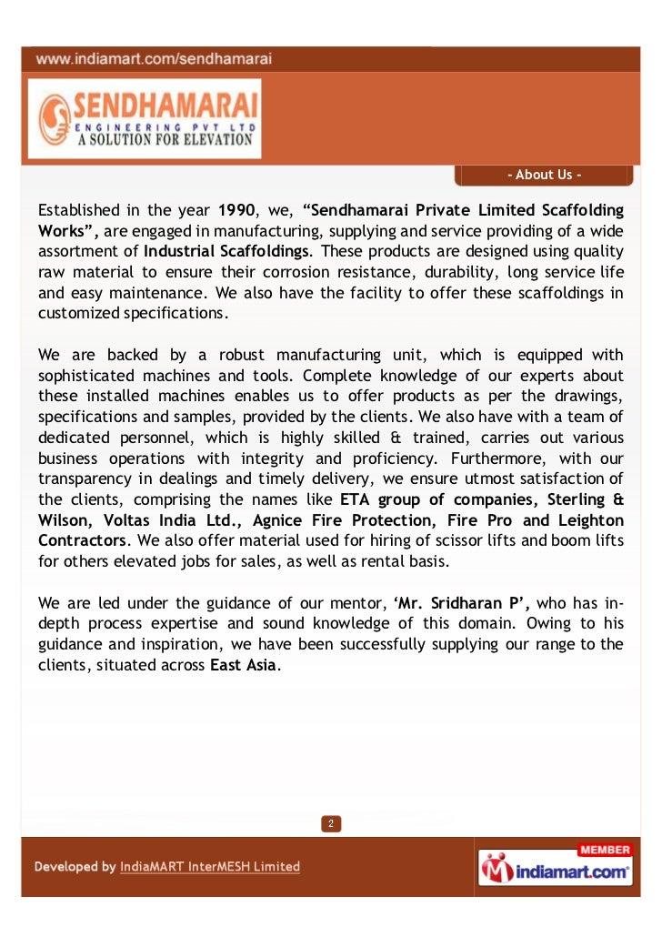 Sendhamarai Engineering Private Limited, Chennai, Industrial