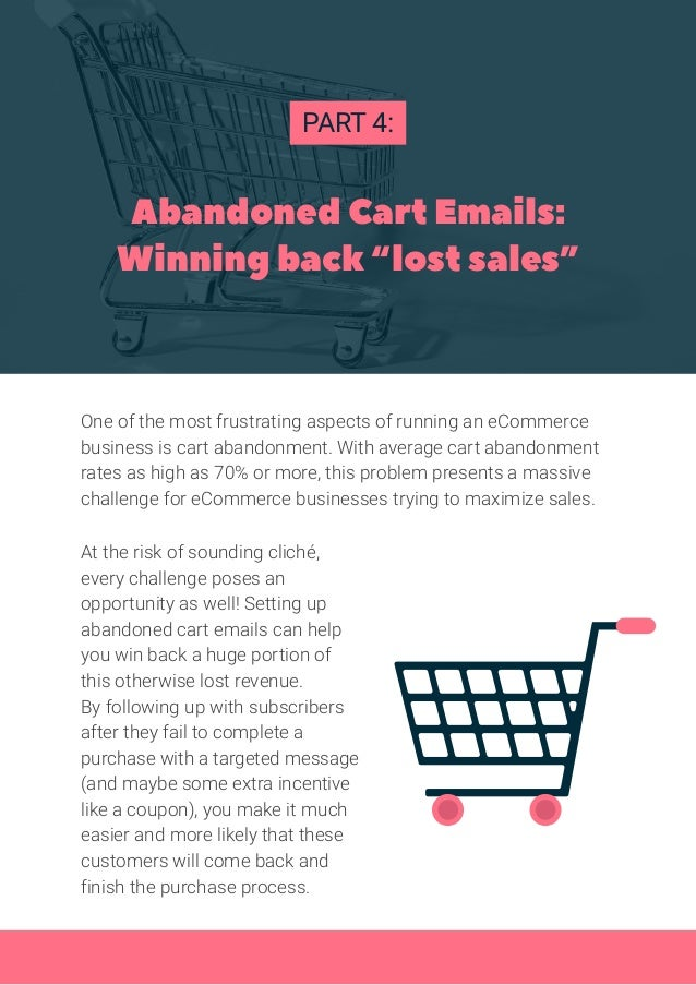 """Abandoned Cart Emails: Winning back """"lost sales"""" PART 4: One of the most frustrating aspects of running an eCommerce busin..."""