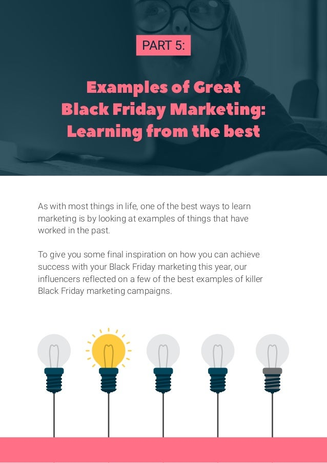 PART 5: As with most things in life, one of the best ways to learn marketing is by looking at examples of things that have...