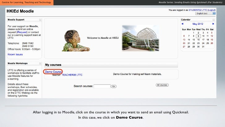 how to use moodle for students