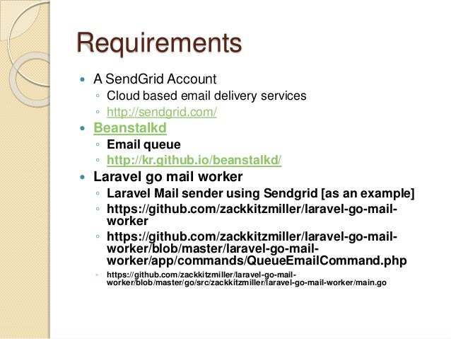 Sending email with send grid and laravel
