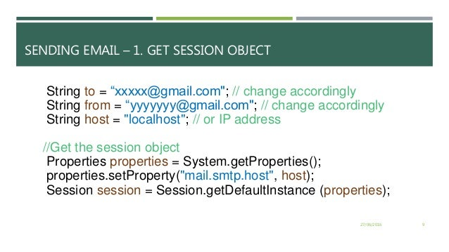 Java Sending mail