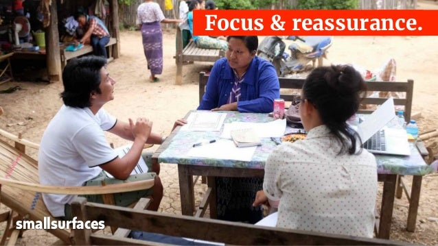 Focus & reassurance. smallsurfaces