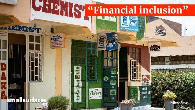 "MicroSave ""Financial inclusion"" smallsurfaces"