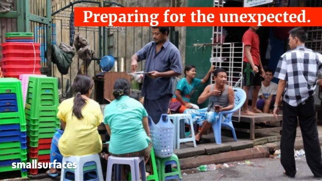 Preparing for the unexpected. smallsurfaces