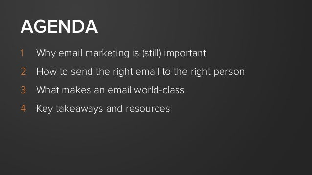 Sending the Right Email to the Right Person Slide 3