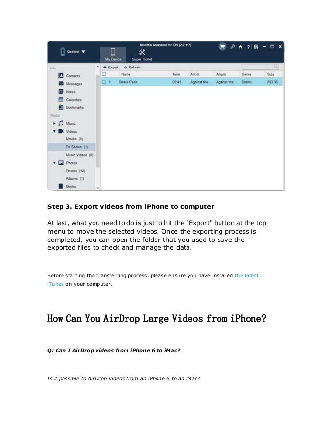 Send Long/Large Videos on iPhone