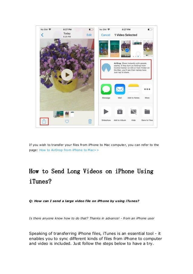 How To Send Large Video On Iphone 6 How to Send a Long Video