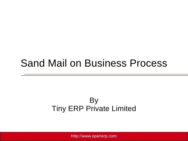 Send Mail on Business Process By Tiny ERP Private Limited