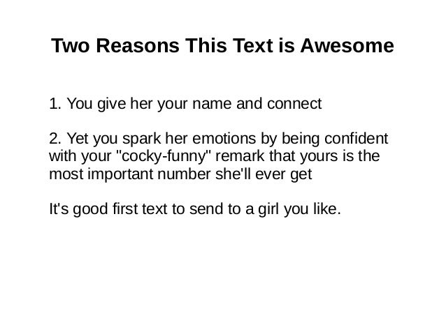 Funny First Text To Send A Girl