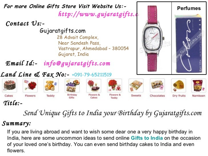 Send Unique Gifts To India Your Birthday By Gujaratgifts