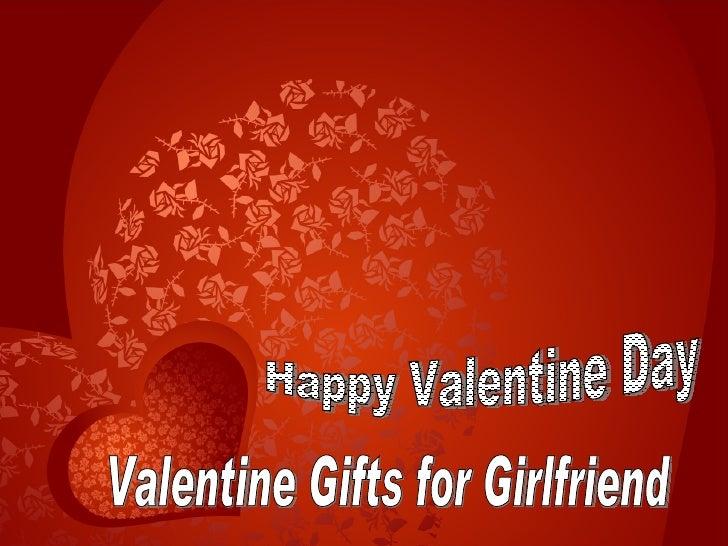 Valentine Gifts for Girlfriend Happy Valentine Day