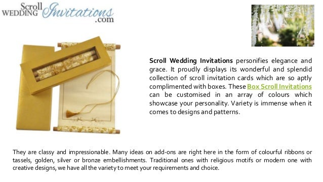 send your invites in style with box scroll invitations