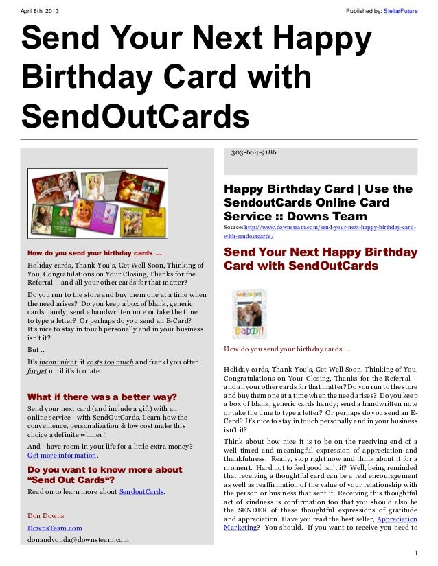 Send Your Next Happy Birthday Card With SendOutCards