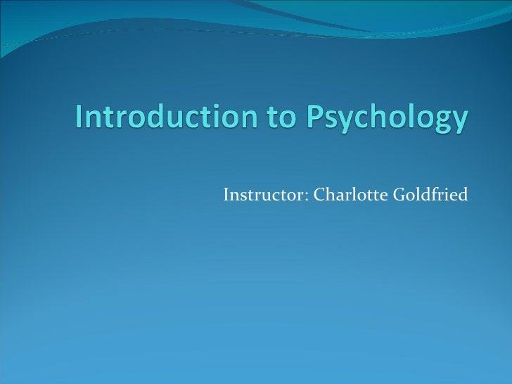 Instructor: Charlotte Goldfried