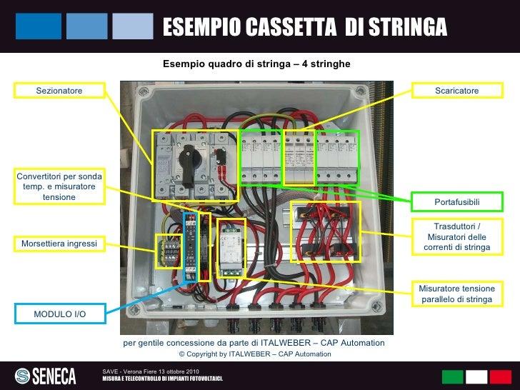 Schema Elettrico Quadro Di Stringa : Misura e telecontrollo di impianti fotovoltaici