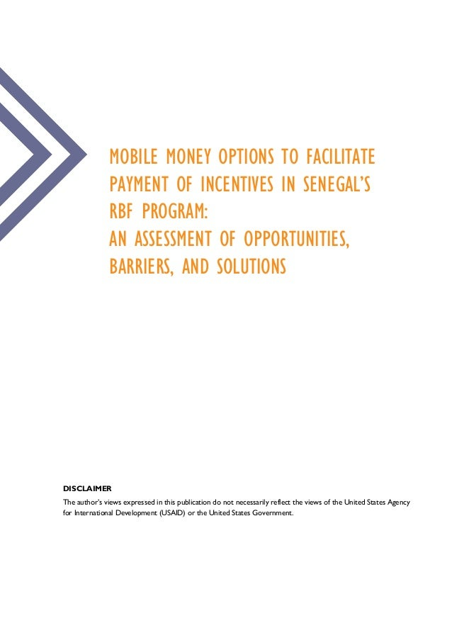 Mobile Money Options To Facilitate Payment Of Incentives