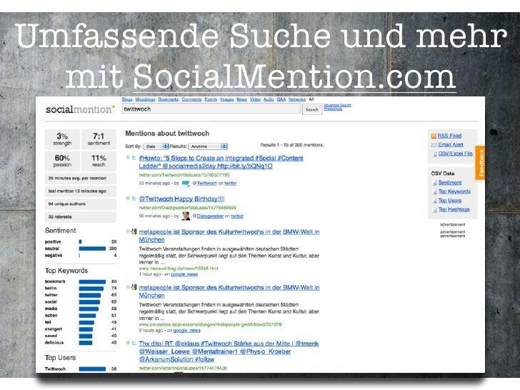 Umfassende Suche und mehr   mit SocialMention.com