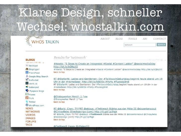Klares Design, schneller Wechsel: whostalkin.com