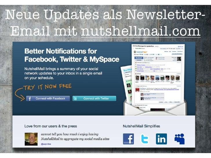 Neue Updates als Newsletter- Email mit nutshellmail.com