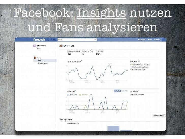 Facebook: Insights nutzen   und Fans analysieren
