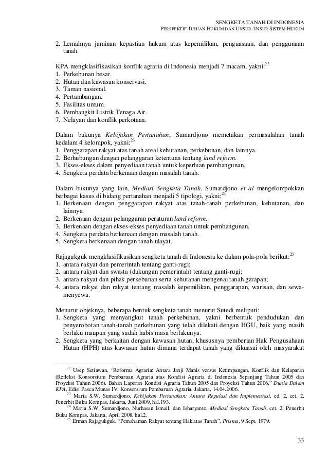 Sengketa Tanah Di Indonesia