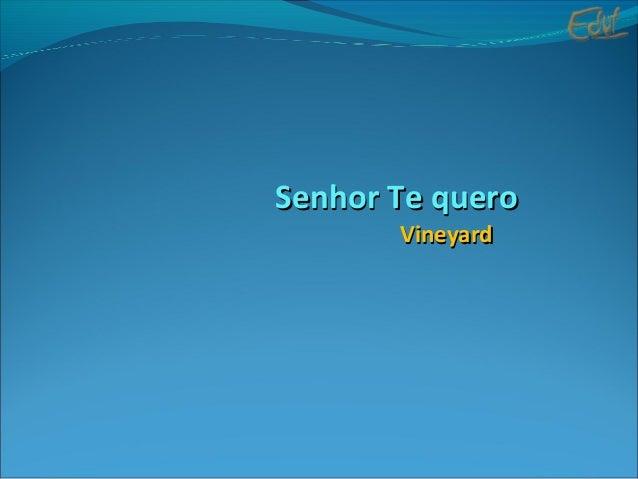 Senhor Te queroSenhor Te quero VineyardVineyard