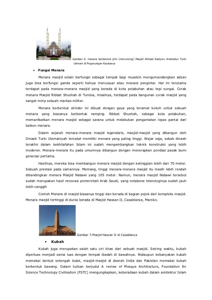 Seni Arsitektur Bangunan Masjid