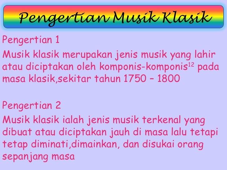 jenis jenis musik