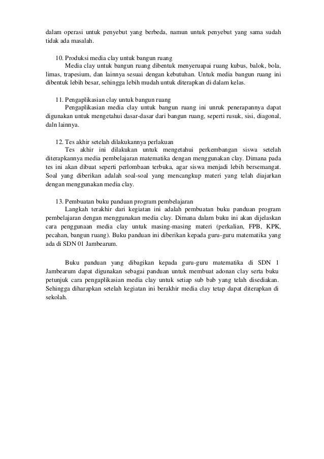 BAB 5. PENUTUP 5.1 Kesimpulan Kesimpulan dari kegiatan program kreativitas mahasiswa yang telah dilakukan ini adalah sebag...
