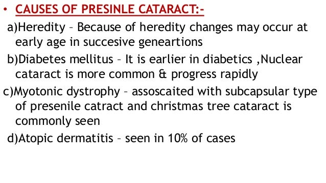 Senile Cataract