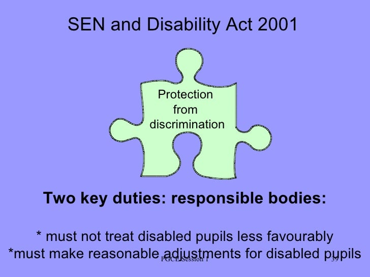 The special needs and disability act