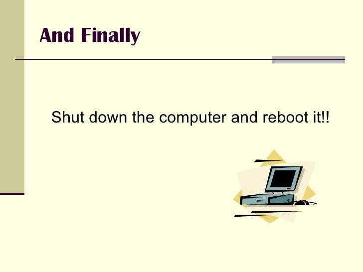 Senior high laptop lab guidelines for Haute shut me down