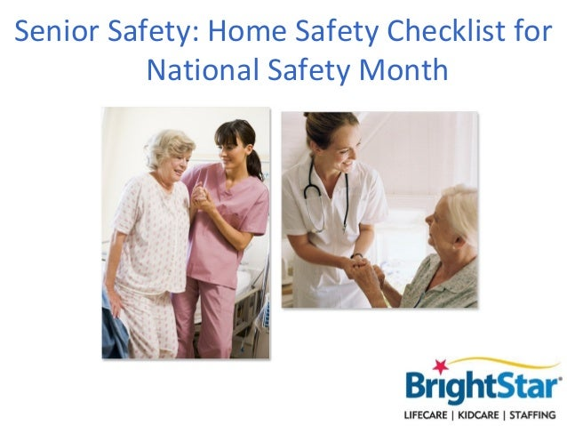 Senior Safety: Home Safety Checklist forNational Safety Month