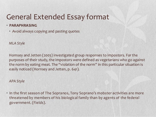 senior extended essay workshop  8 general extended essay format•