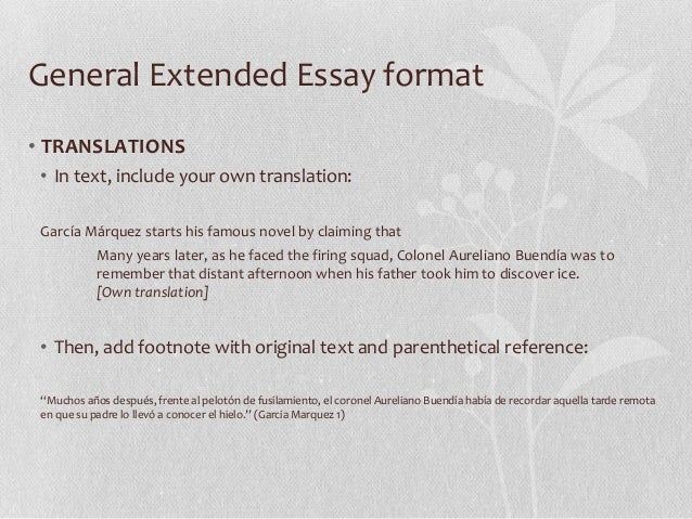 senior extended essay workshop 9 general extended essay format•