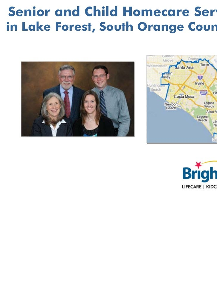 Senior and Child Homecare Servicesin Lake Forest, South Orange County CA
