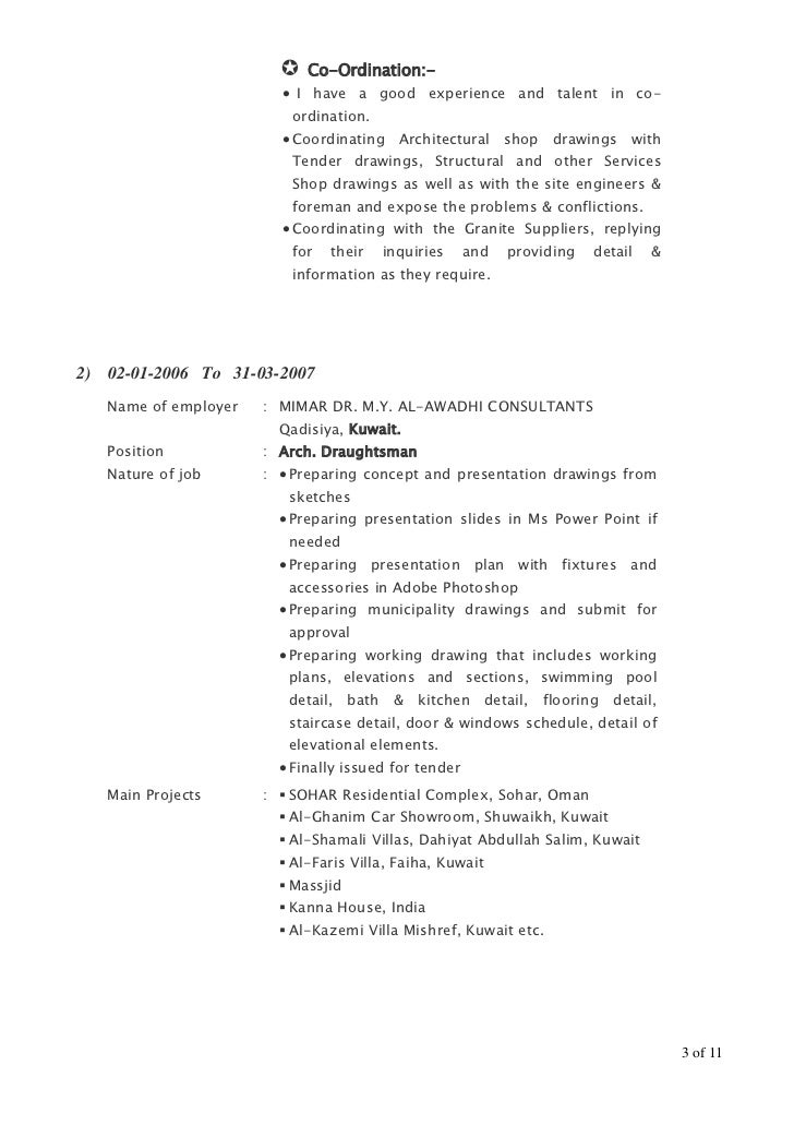 draft resume