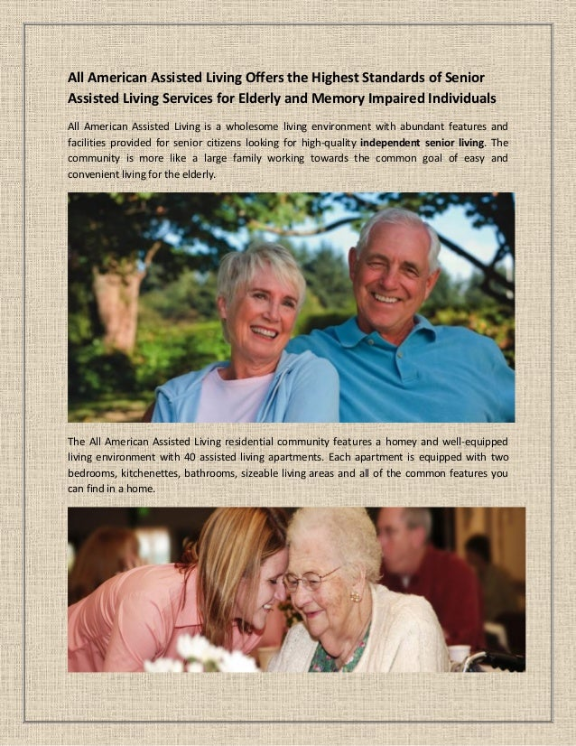 Bon All American Assisted Living Offers The Highest Standards Of Senior  Assisted Living Services For Elderly And ...