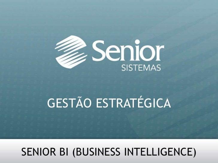 GESTÃO ESTRATÉGICA<br />SENIOR BI (BUSINESS INTELLIGENCE)<br />